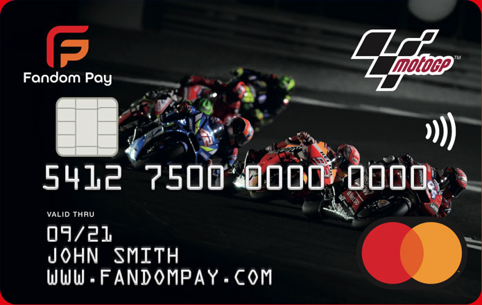 The Fandom Pay MotoGP™ Mastercard®